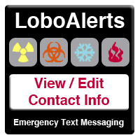 View and Edit Your LoboAlerts Contact Information graphic